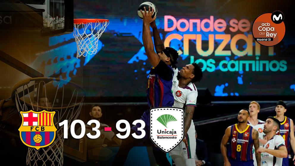 El Barcelona venció a Unicaja en las semifinales de la Copa del Rey. (EFE)
