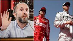 Gonzalo Pérez Jácome, Fernando Alonso y Michael Schumacher.