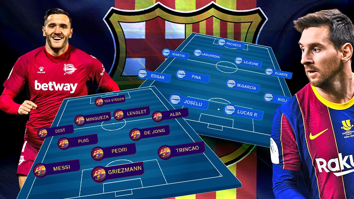 Barcelona y Alavés se enfrentan este sábado en el Camp Nou.