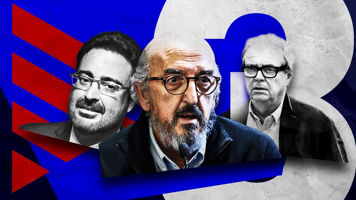 David Madí (ex jefe de gabinete de Artur Mas), el millonario Jaume Roures y el productor Oriol Carbó, propietario de Triacom Audiovisual.