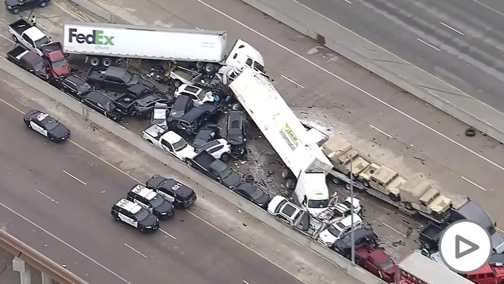 Seis muertos tras una colisión entre al menos 70 vehículos en Texas