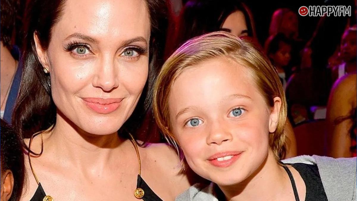 Shiloh con su madre, Angelina Jolie