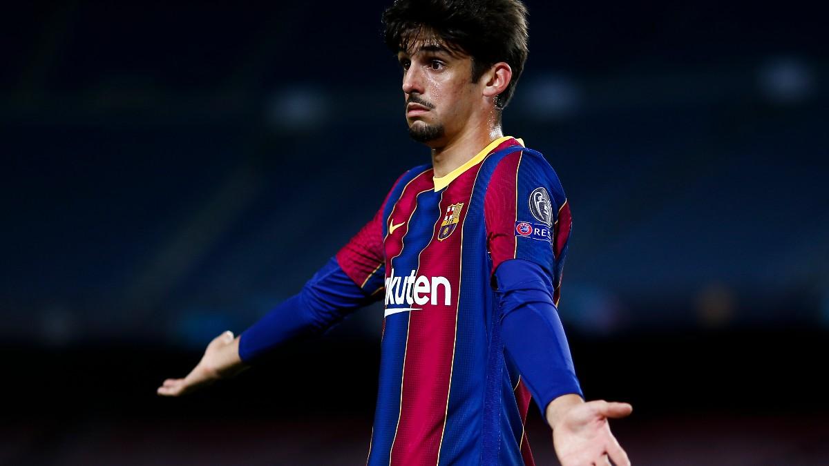 Trincao, durante un partido con el Barcelona. (Getty)
