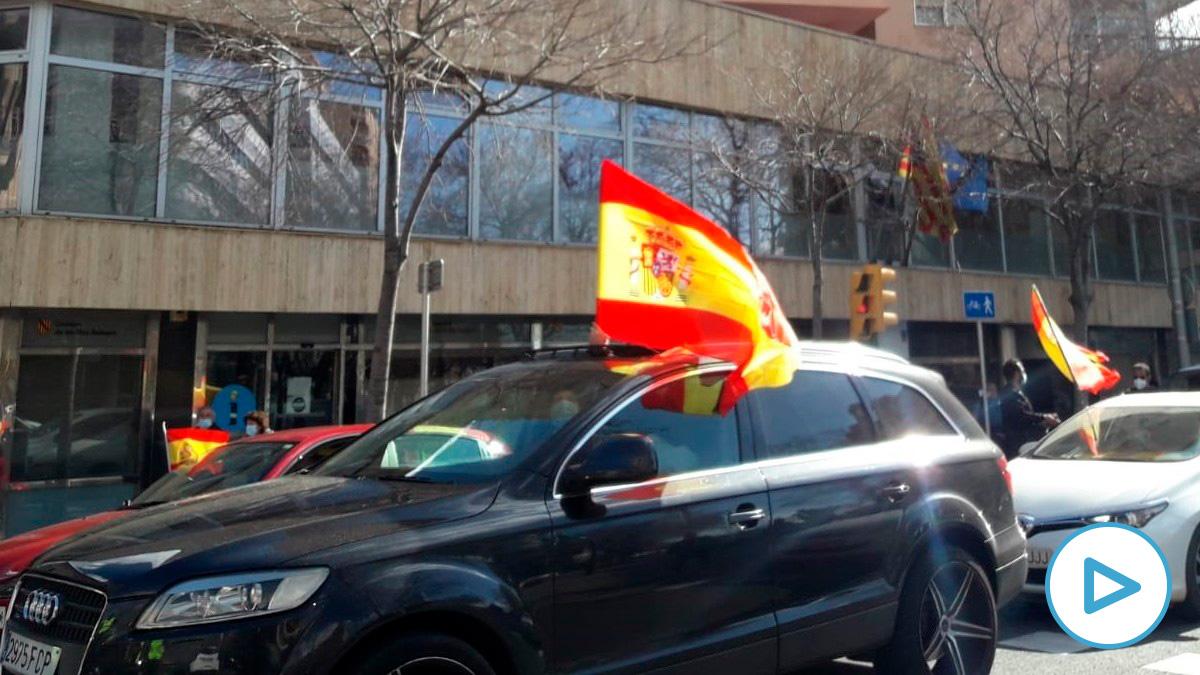 Marcha motorizada en Baleares contra Sánchez y Armengol. (Foto: EP)