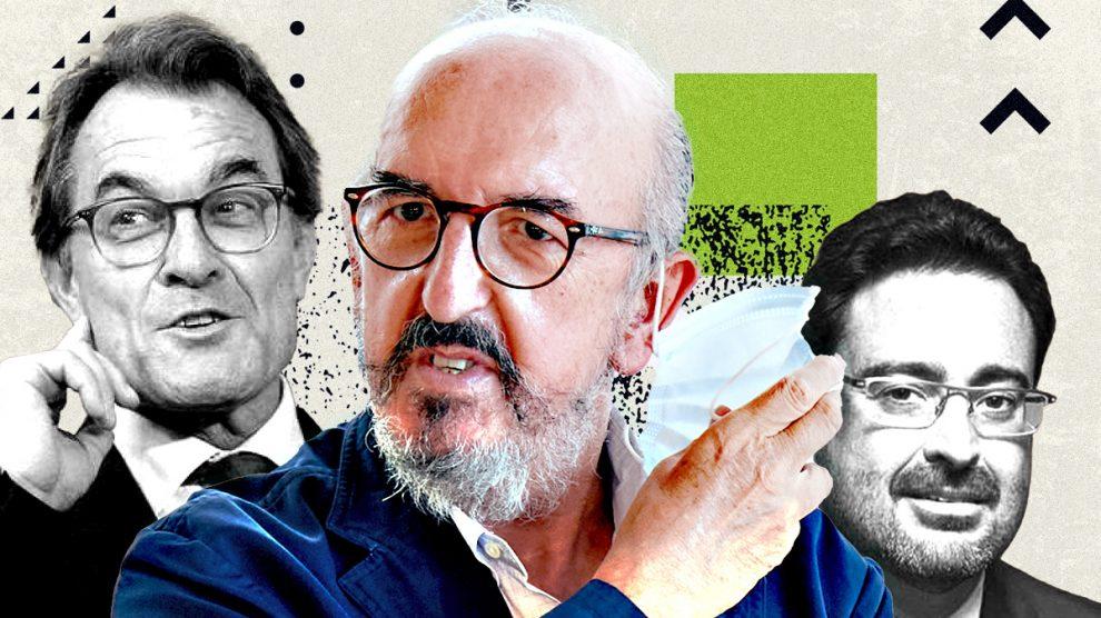 El ex presidente de la Generalitat Artur Mas, el millonario Jaume Roures y David Madí.