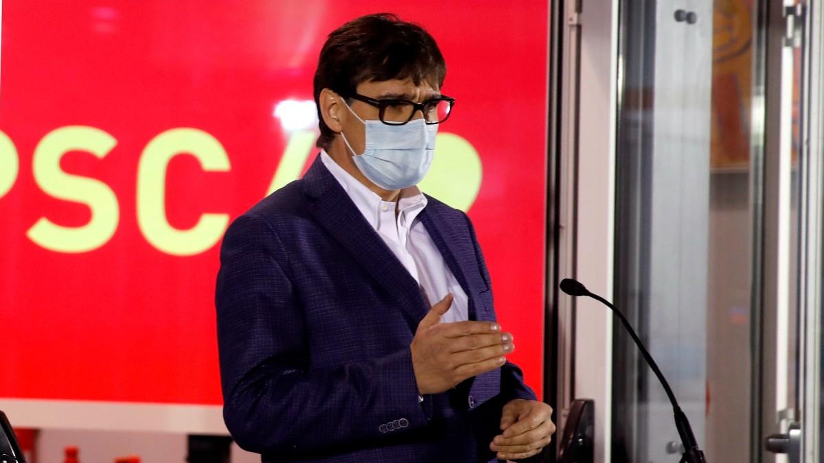 Salvador Illa, líder del PSOE en Cataluña. Foto: EFE
