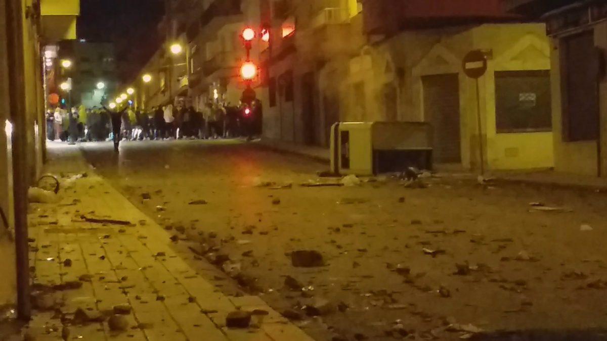 Disturbios en Linares (Jaén).