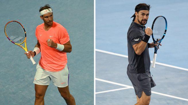 Rafa Nadal – Fabio Fognini: horario y dónde ver en directo el Open de Australia