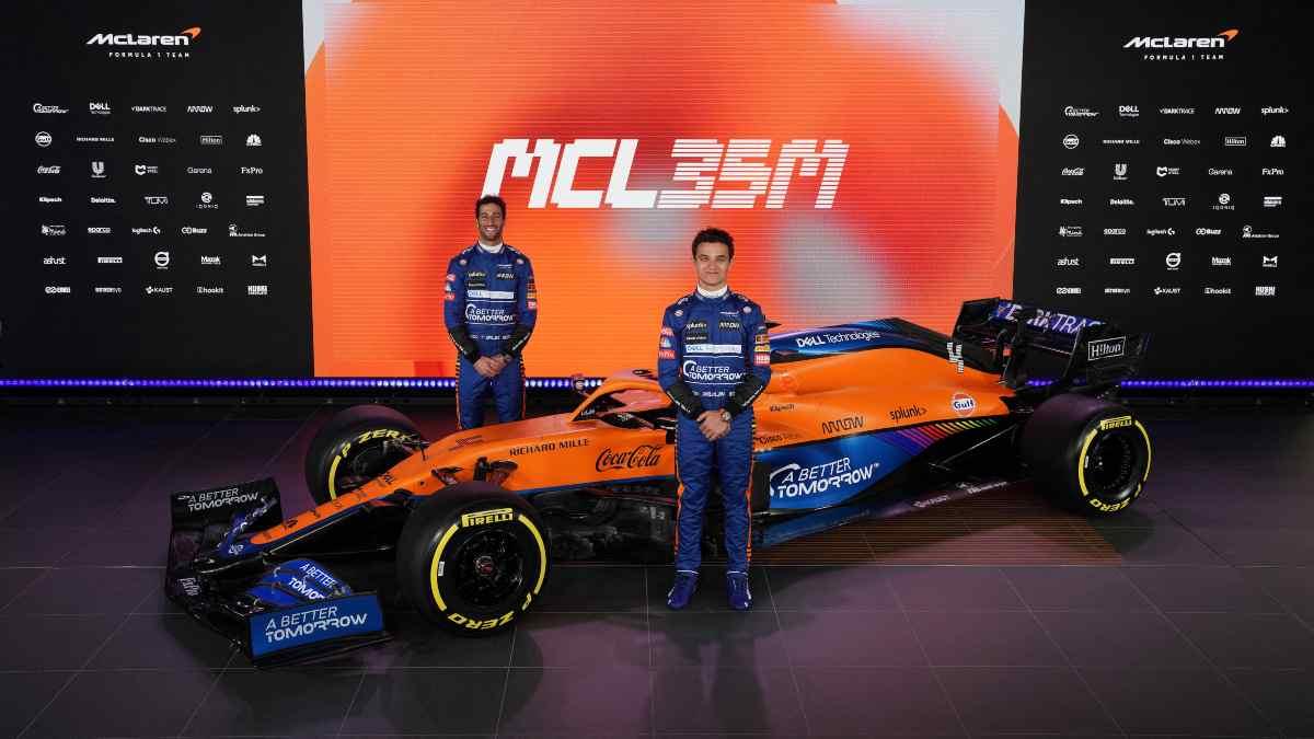Presentación del McLaren MCL35. (AFP)