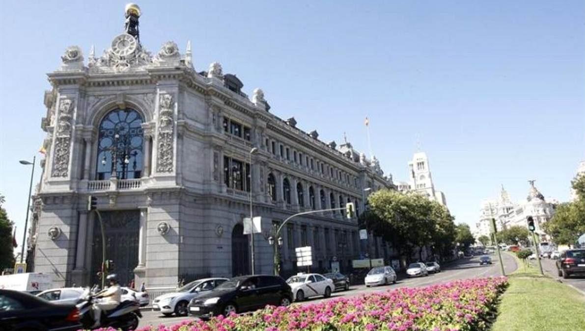 Fachada del Banco de España en Madrid
