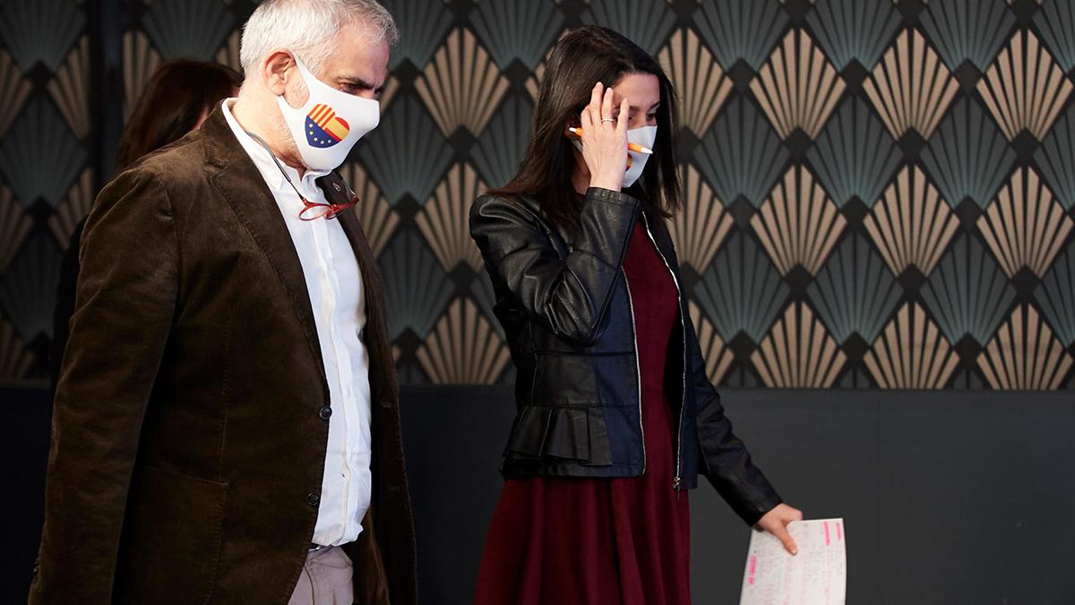 Inés Arrimadas y Carlos Carrizosa. (Foto: Efe)