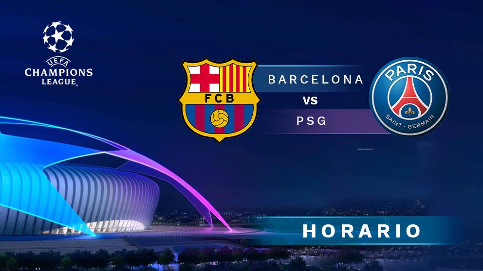 Barcelona – PSG: partido de ida de los octavos de final de la Champions League.