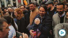 Pablo Iglesias en la manifestación del 8M de 2020. (Foto: Podemos)