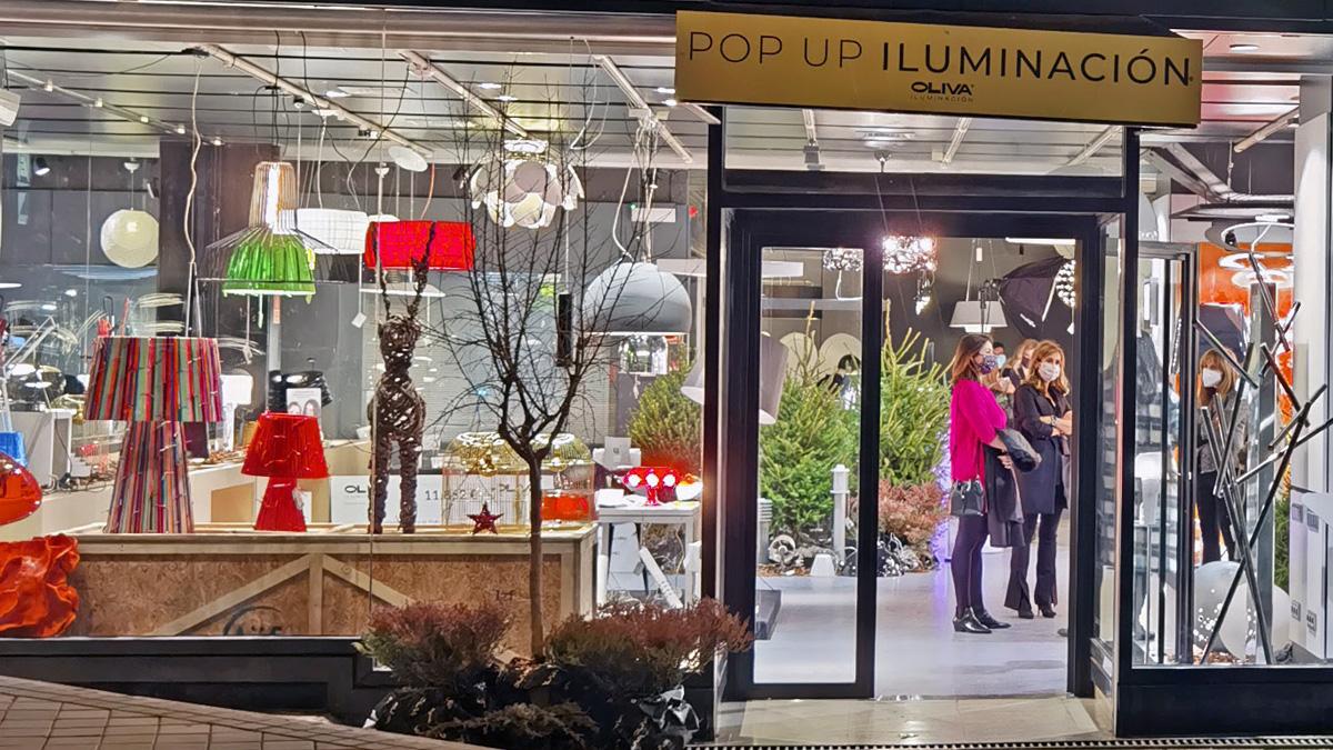 Una imagen de la Pop Up Store de Oliva Iluminación en Madrid.