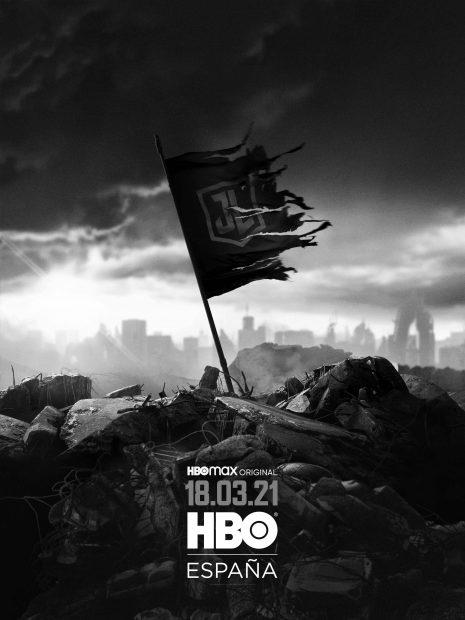 Cartel de La Liga de la Justicia de Zack Snyder que llega a HBO el 18 de marzo