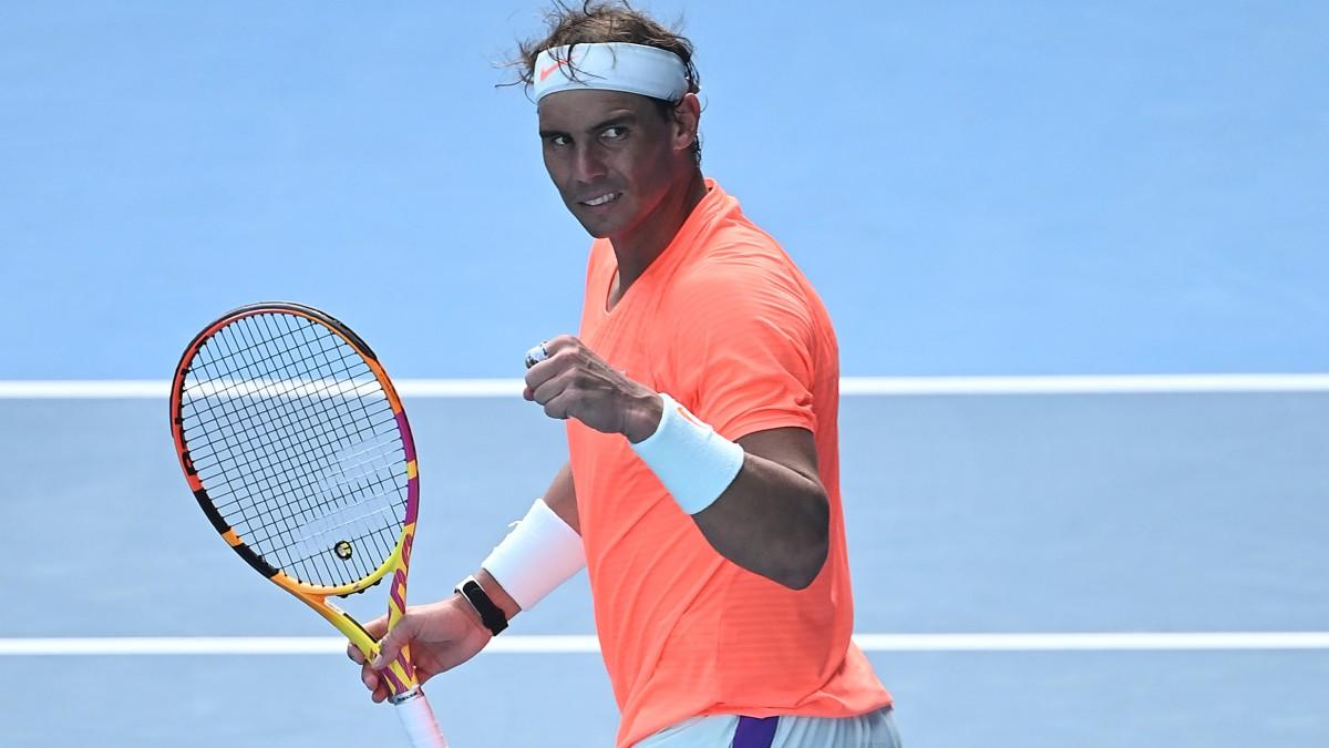 Rafa Nadal, en un partido del Open de Australia. (AFP)
