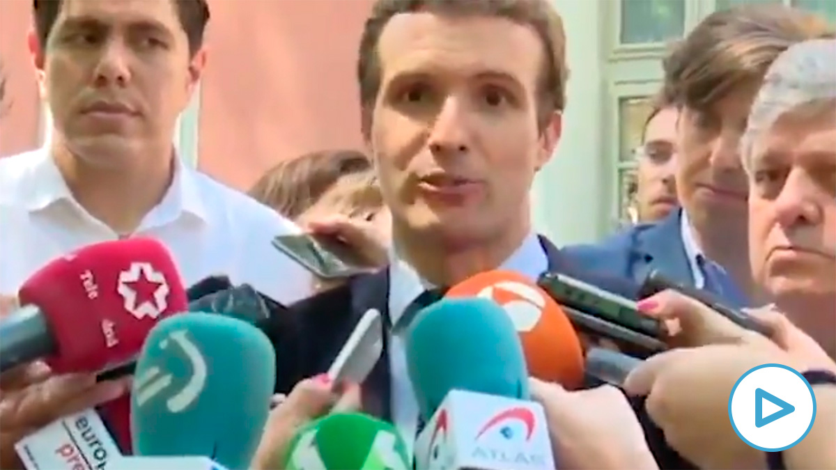 Pablo Casado en 2018: «Lo que nos va a conectar con el electorado no es cambiarnos al edificio de enfrente».