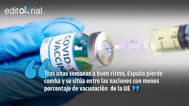 Vacunación a paso de tortuga