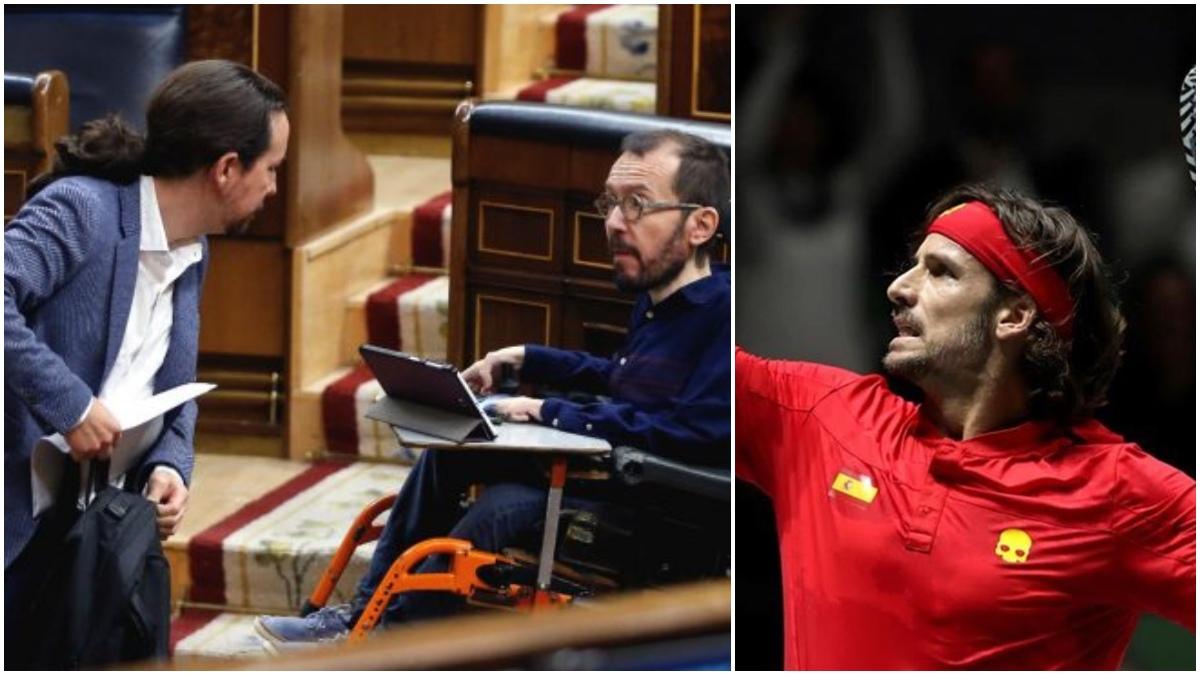 Pablo Iglesias, Echenique y Feliciano López.