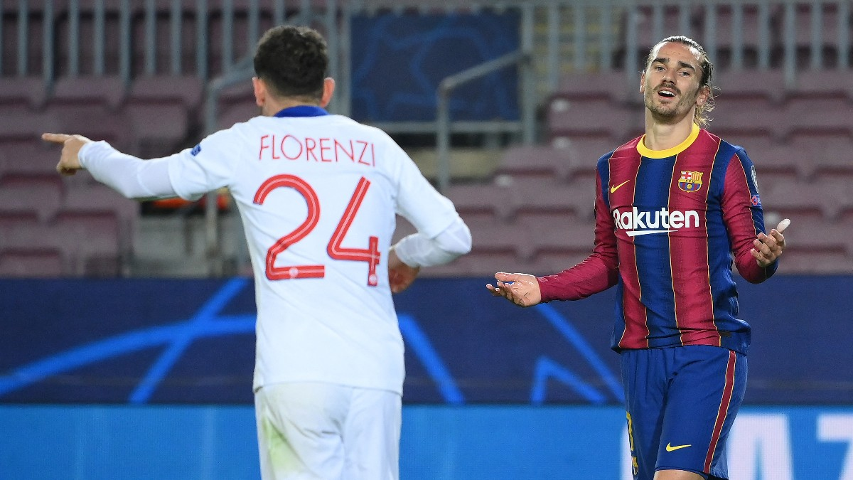 Antoine Griezmann se vio totalmente superado. (AFP)