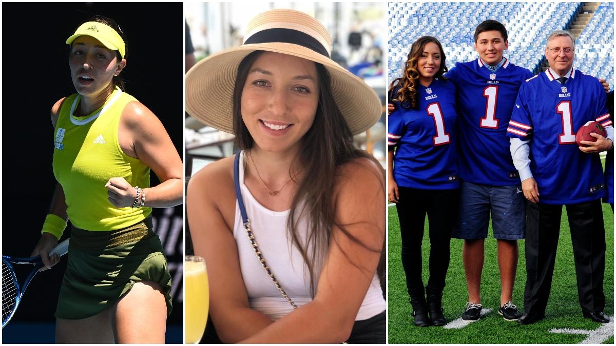 Jessica Pegula jugando y en familia (Getty e Instagram)