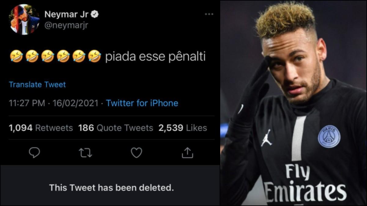 Neymar se enfadó en redes sociales.