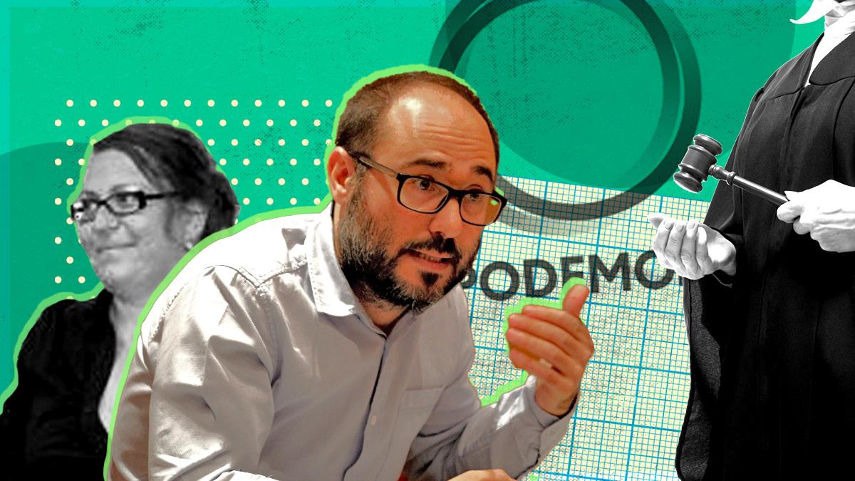 Rocío Val y Daniel de Frutos, gerente y tesorero de Podemos, respectivamente.