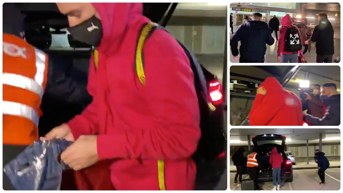 Antoine Griezmann, cazado en el Aeropuerto de El Prat.