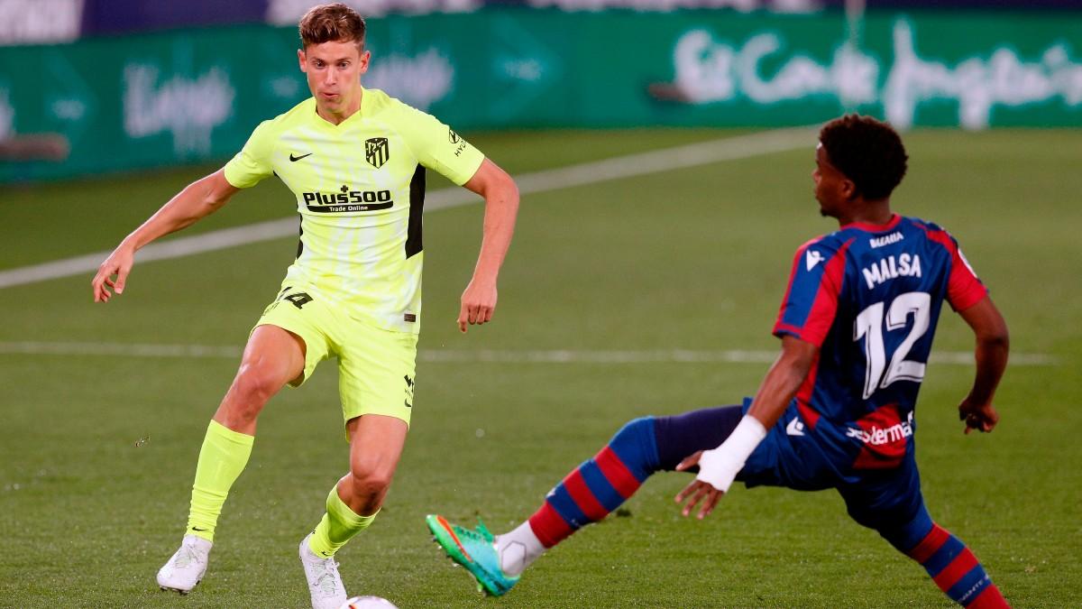 Marcos Llorente y Malsa, en el Atlético – Levante. (EFE)
