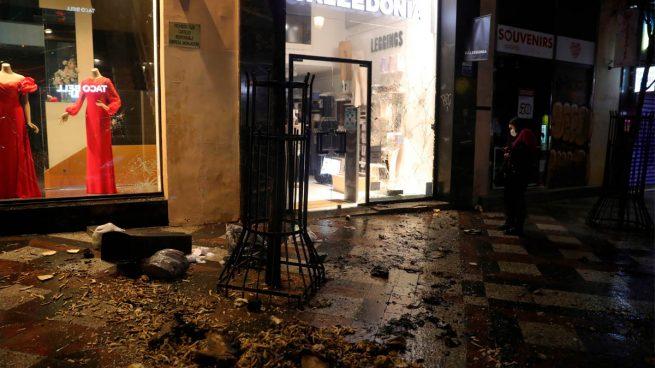Ataques a comercios en Madrid durante los disturbios (Foto: EFE)