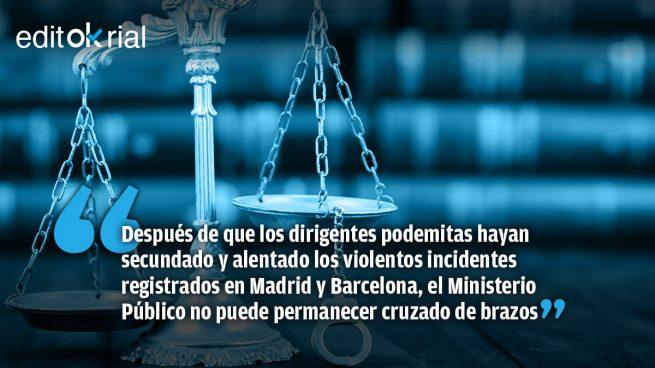Si la Fiscalía no interviene contra Echenique y Mayoral será porque Sánchez no quiere