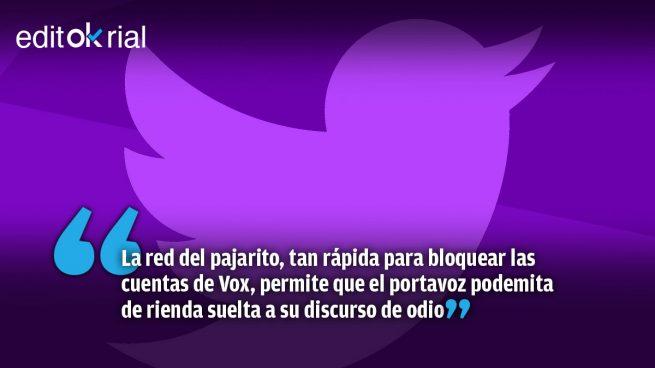 A Twitter se le ve el plumero: vía libre para que Echenique incite a la violencia