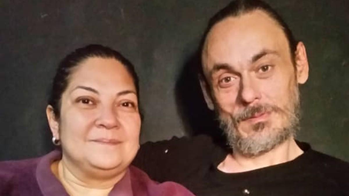 Manuel López González, nacido en Lugo hace 47 años, y su mujer, Katty.