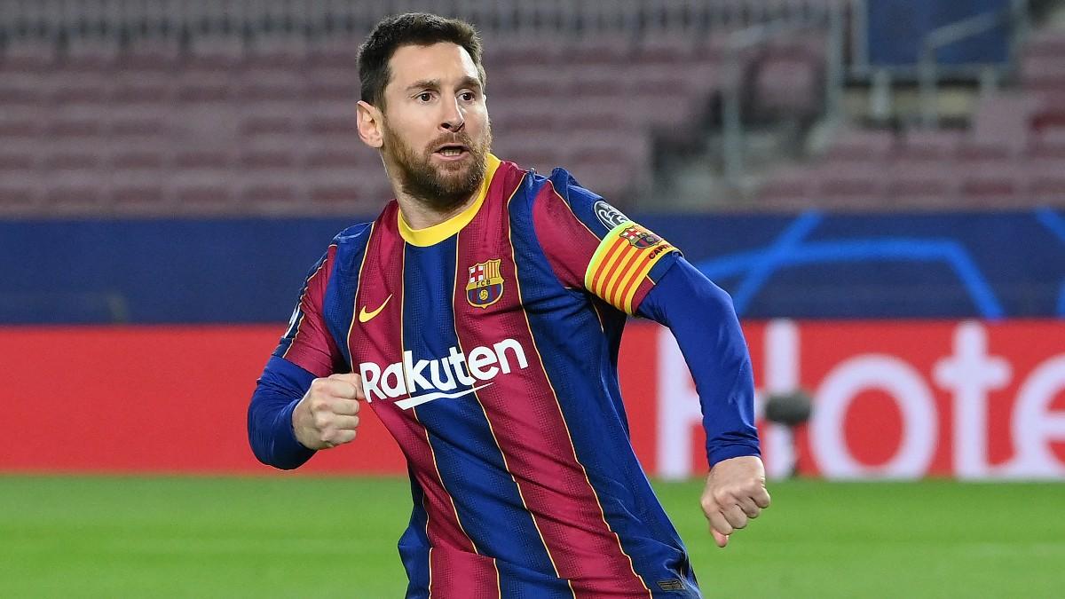Leo Messi celebra un gol. (AFP)