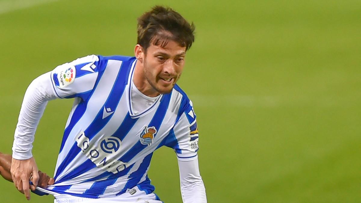 David Silva, en un partido con la Real Sociedad. (AFP)