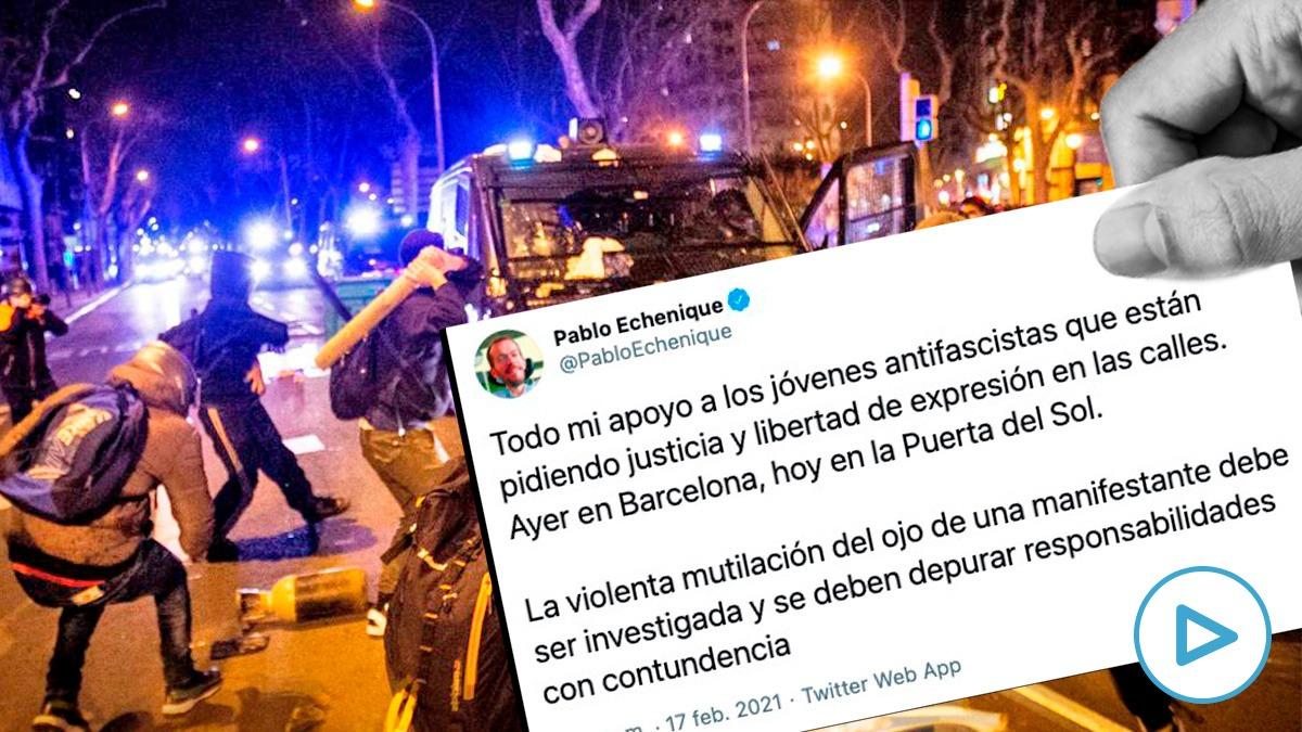 Las asociaciones de policías advirtieron al portavoz de Podemos, Pablo Echenique, que pensaban llevar su tuit ante los tribunales.