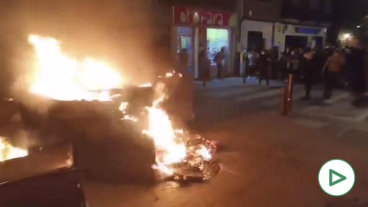 Altercados en Granada en la manifestación pro Pablo Hasél.