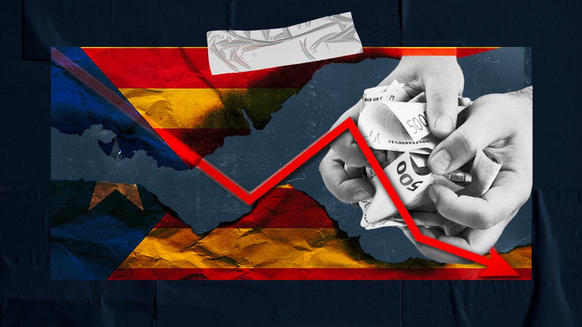Funcas alerta del deterioro de la economía catalana.