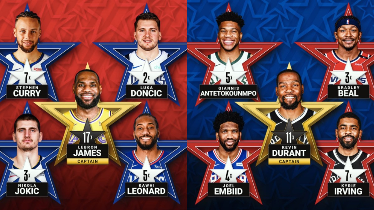Los elegidos como titulares en el All-Star. (NBA)