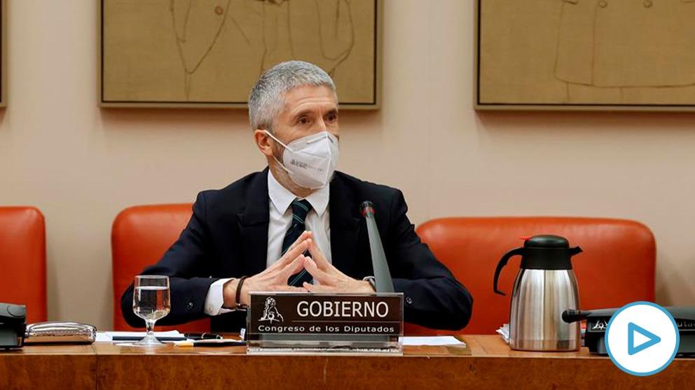 El ministro del Interior, Fernando Grande-Marlaska, este viernes en el Congreso.
