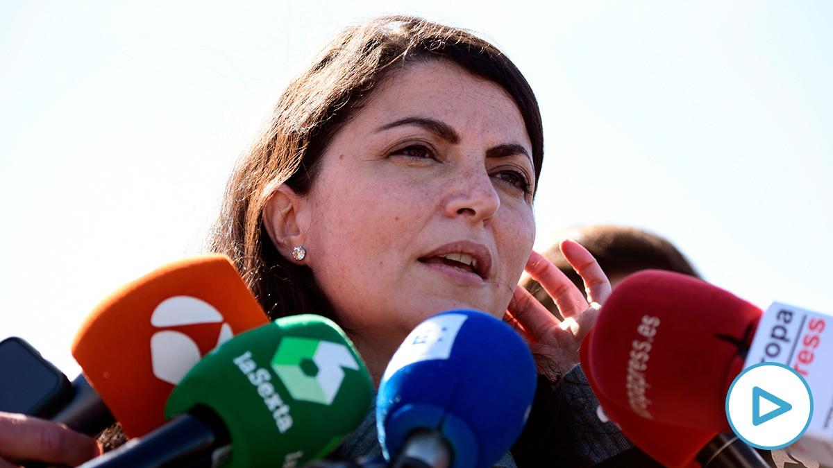 Macarena Olona, portavoz adjunta de Vox en el Congreso, tras escuchar a Villarejo en la cárcel.