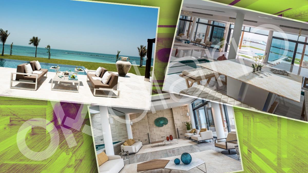 Imágenes del interior de la mansión en la que se aloja el Rey emérito Juan Carlos I en la Isla de Nurai, en Abu Dhabi.