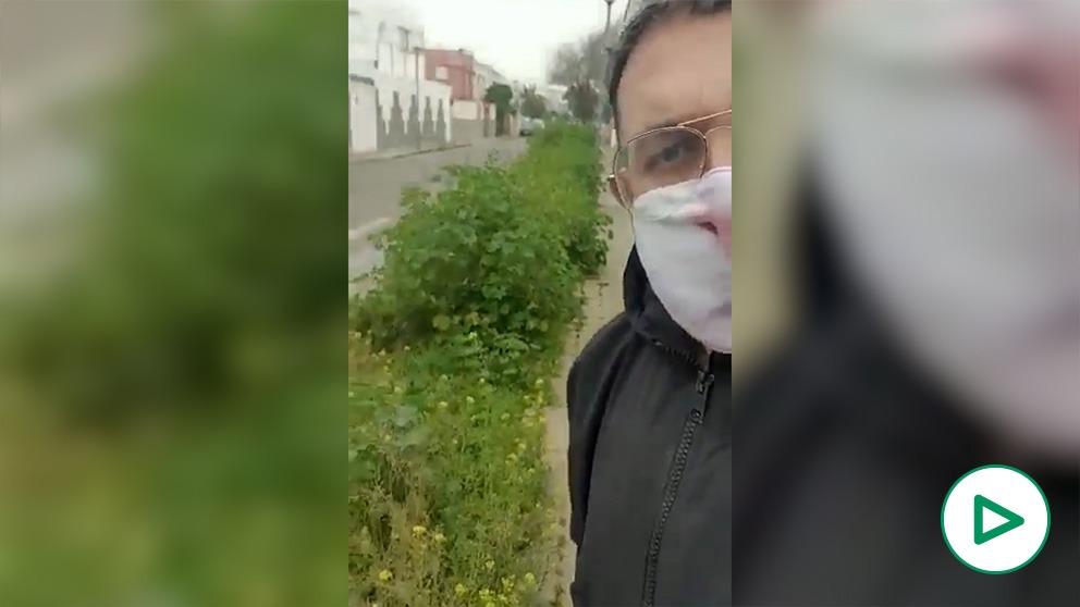Vecino de Sevilla denuncia el estado de San Jerónimo.