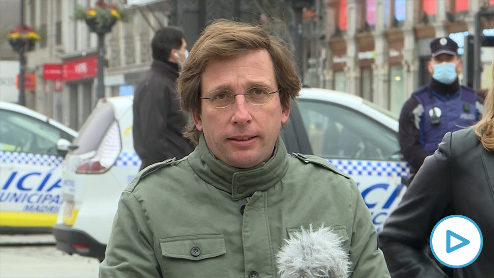 Almeida, en la rueda de prensa.