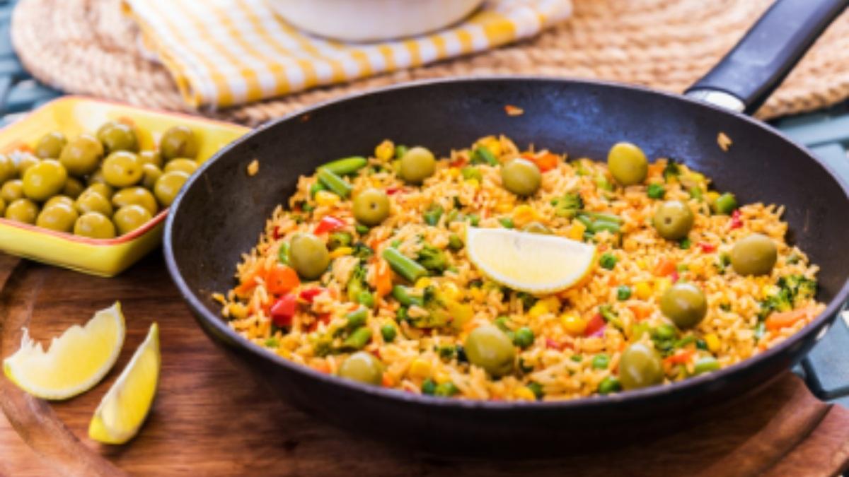 Receta de arroz con verduras y corvina