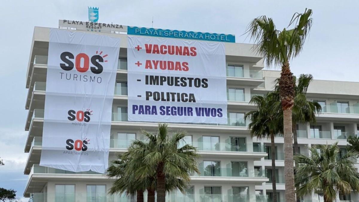 Uno de los establecimientos que se ha unido a la iniciativa SOS Turismo en Baleares