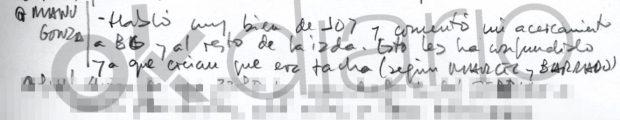 Villarejo anotó en su agenda: «Esto les ha confundido (a Podemos) porque creían que yo era facha»