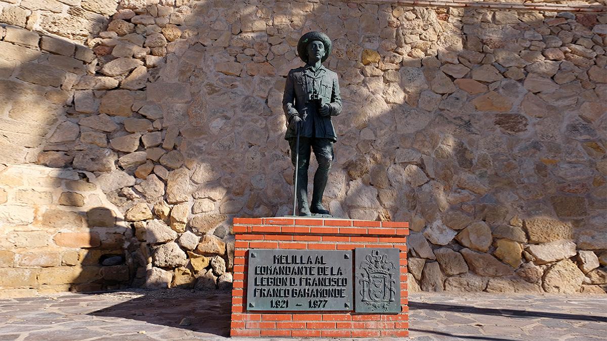 Estatua de Franco en Melilla.