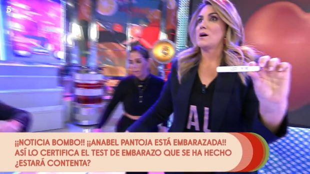 Carlota Corredera no puede creer que el resultado del test fuese positivo