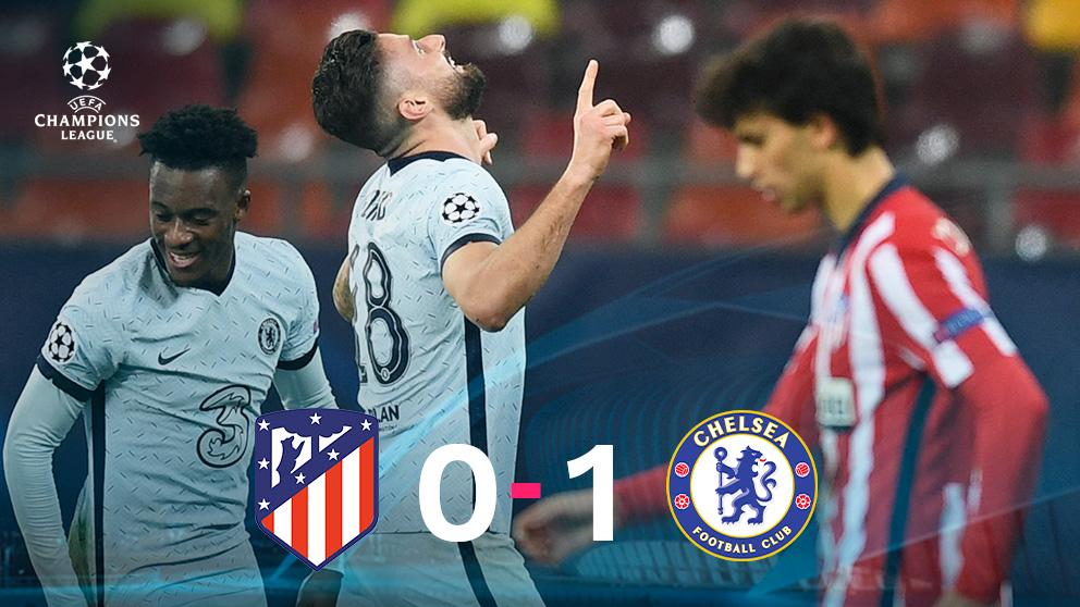 El Chelsea venció al Atlético en Bucarest.